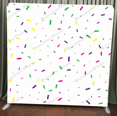 Colorful Confetti photo booth backdrop for your event.
