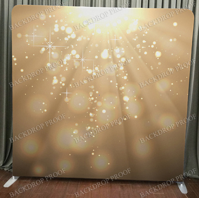 Gold Light Bokeh photo booth backdrop for your event.