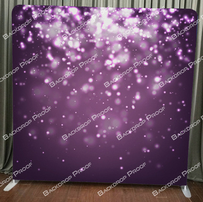 Purple Bokeh photo booth backdrop for your event.