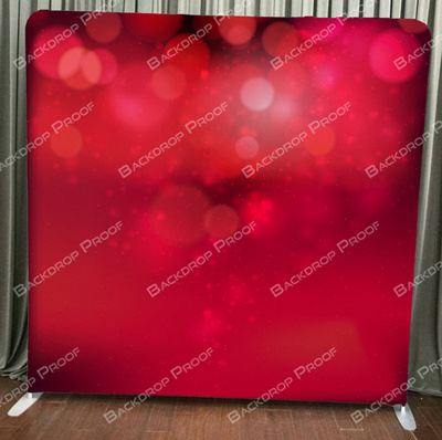 Red Bokeh photo booth backdrop for your event.