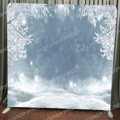 Winter Wonderland photo booth backdrop for your event.