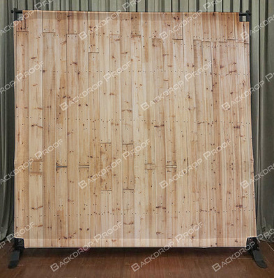 Light Wood photo booth backdrop for your event.