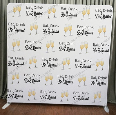 Eat Drink Marry photo booth backdrop for your event.
