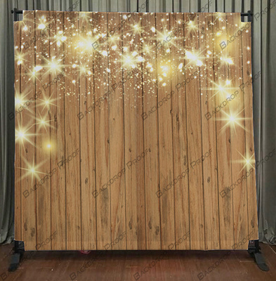 Stars On Wood photo booth backdrop for your event.