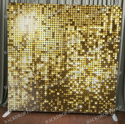 Gold Sequin Large photo booth backdrop for your event.