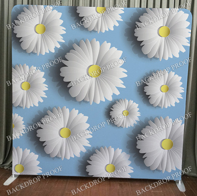 White Daisies photo booth backdrop for your event.