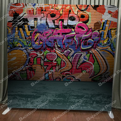 Graffiti photo booth backdrop for your event.