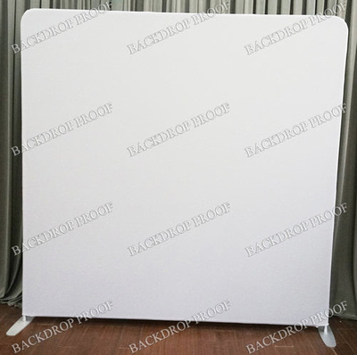 Solid White photo booth backdrop for your event.