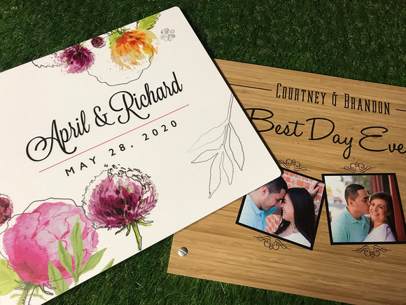 Choose a custom memory book for your event