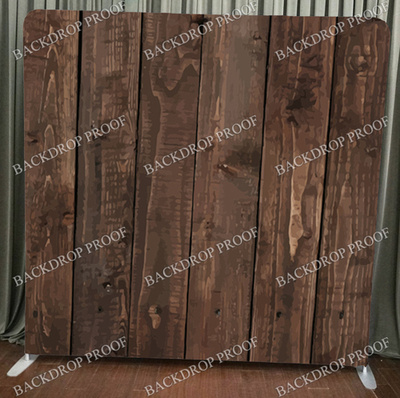 Dark Wood photo booth backdrop for your event.