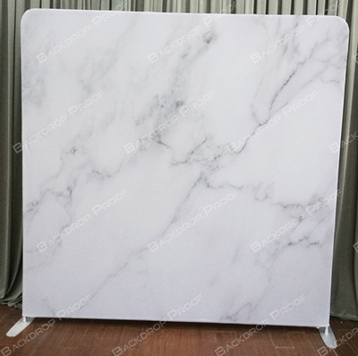 White Marble photo booth backdrop for your event.