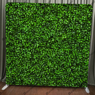 Boxwood Hedge photo booth backdrop for your event.