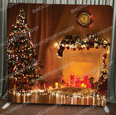 Christmas Lights photo booth backdrop for your event.